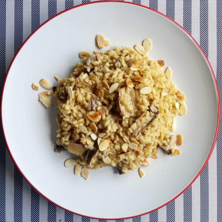 Mushroom risotto dairy free