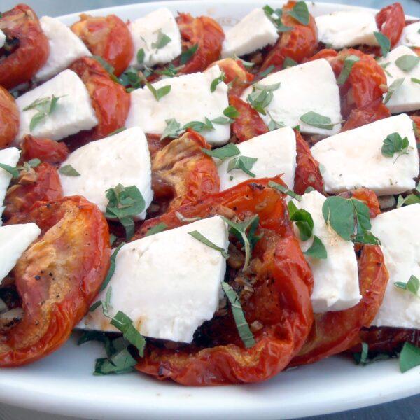 Roast tomato & goats cheese salad