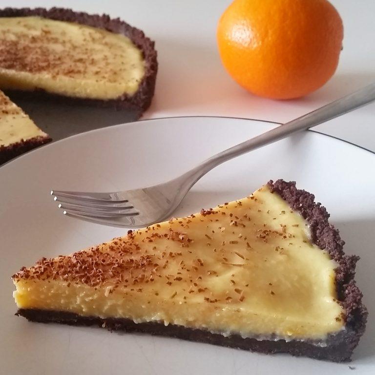 Chocolate Orange Tart (Dairy Free & Vegan)