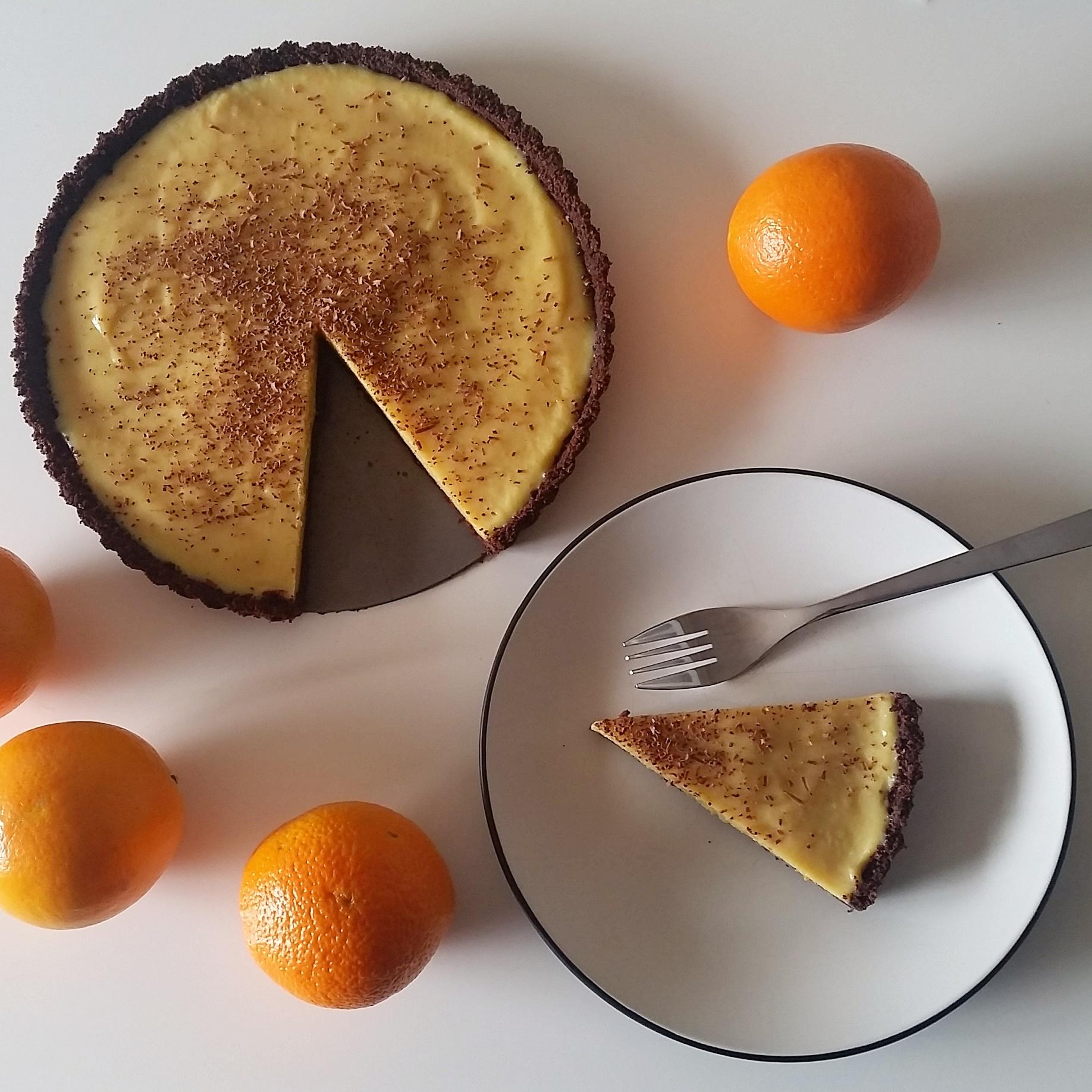 Chocolate orange pie (dairy free & vegan)