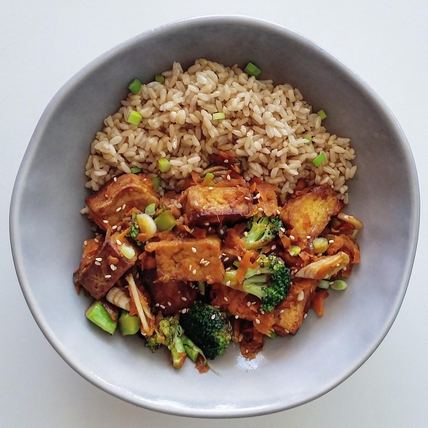 Miso Glazed Tofu Stir Fry Recipe