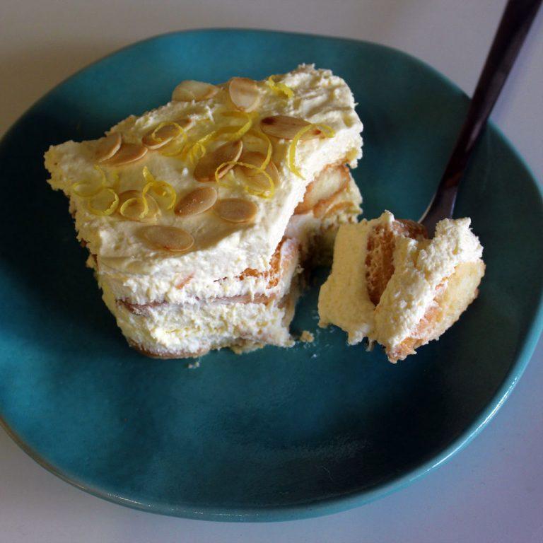 Limoncello tiramisu, lemon variation of the classic tiramisu