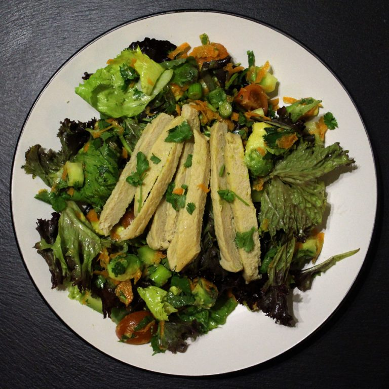 Quorn coriander and avocado salad