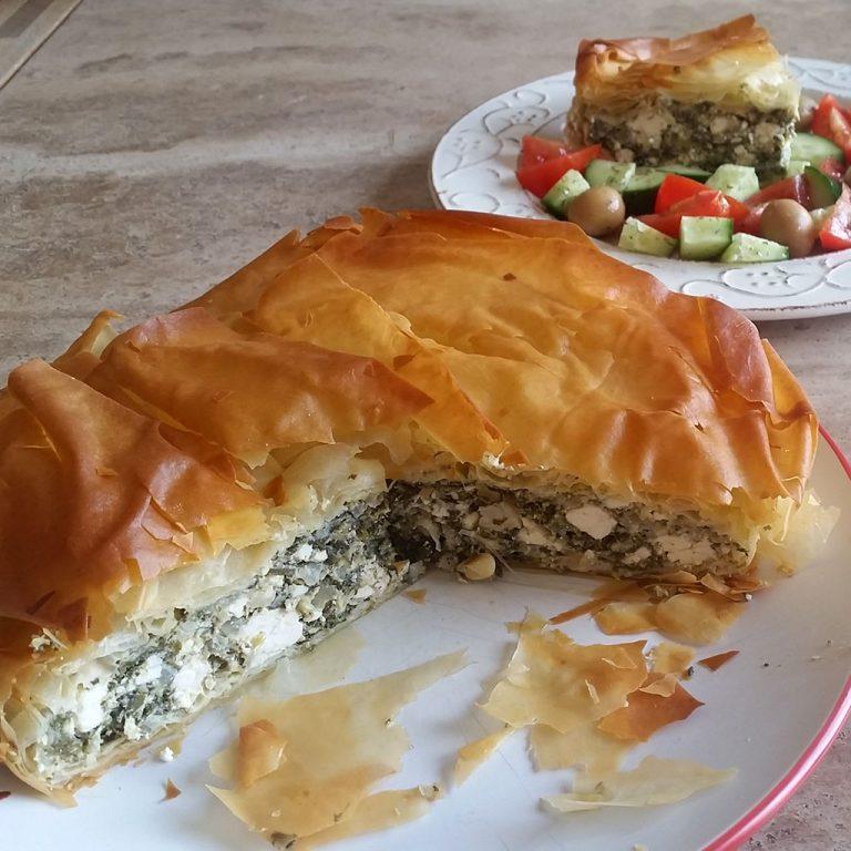 Greek feta cheese & spinach pie