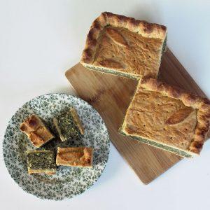 Torta de acelgas (Swiss chard pie)