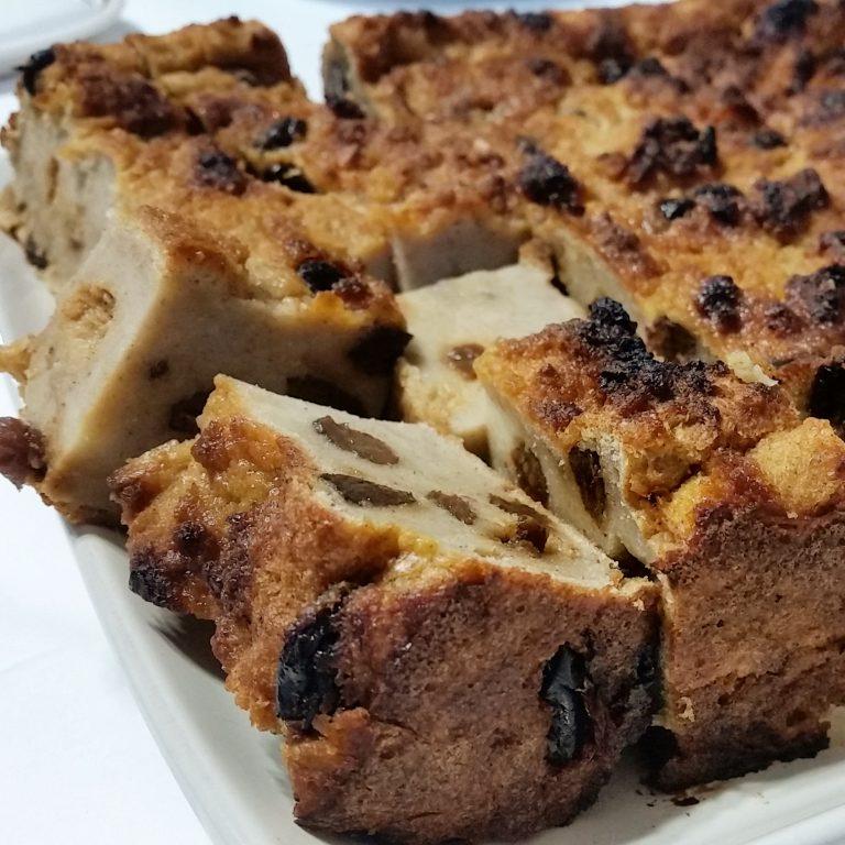 Bread pudding, 'pudín de pan'