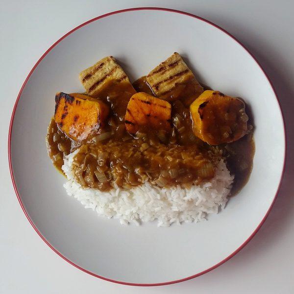 Tofu & Sweet Potato Katsu Curry