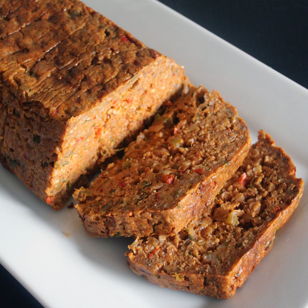 Nut roast slices
