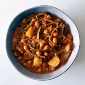Spanish oyster plant stew, potaje de tagarninas