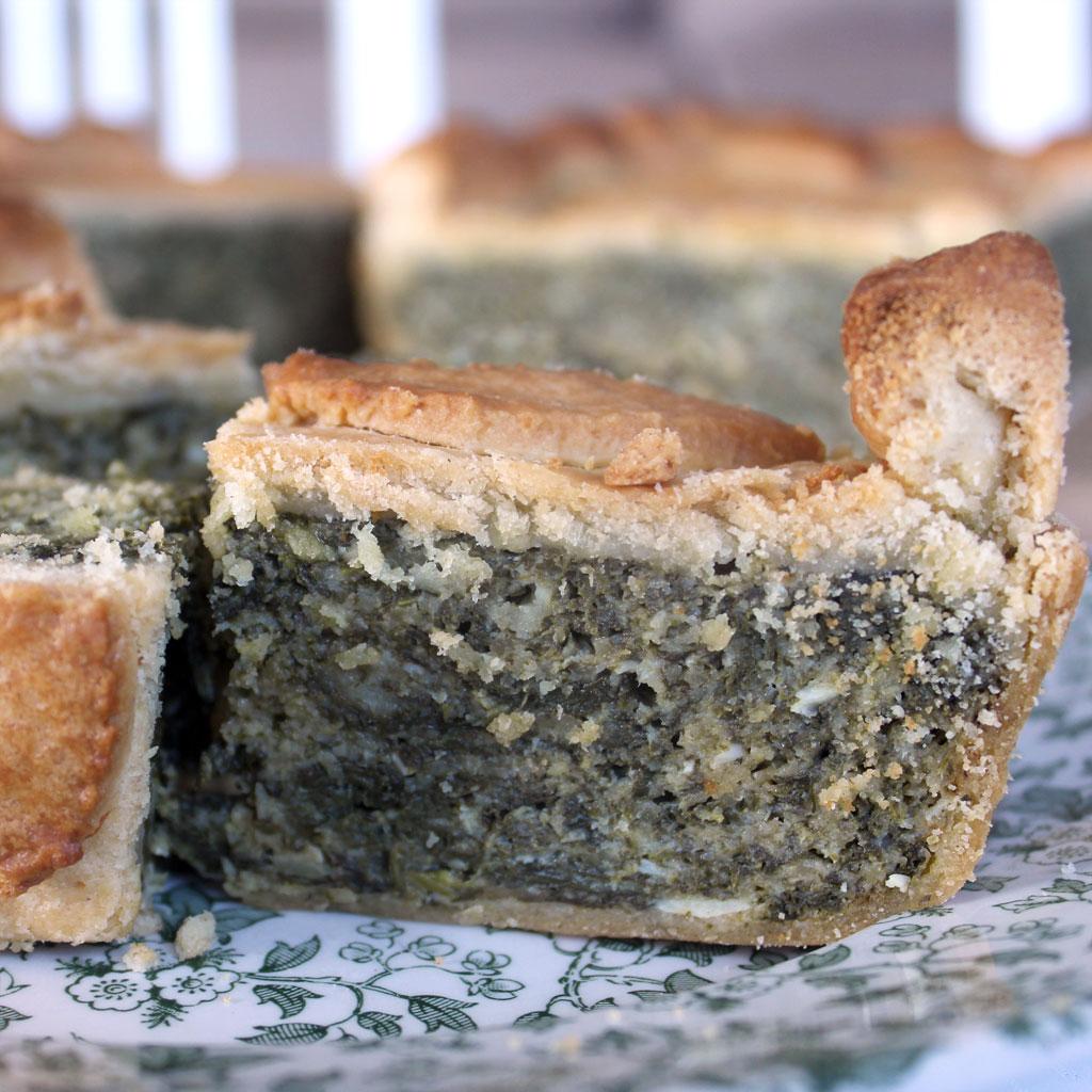 Torta de acelgas, Swiss chard pie