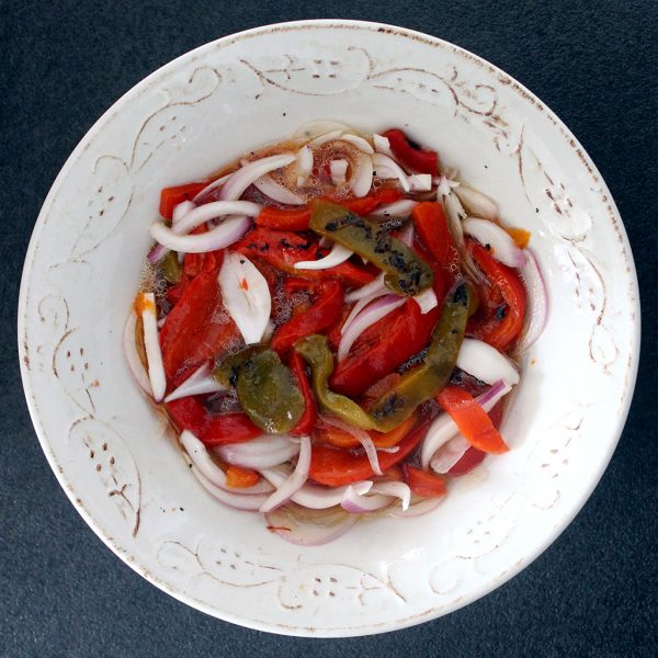 Roast pepper salad