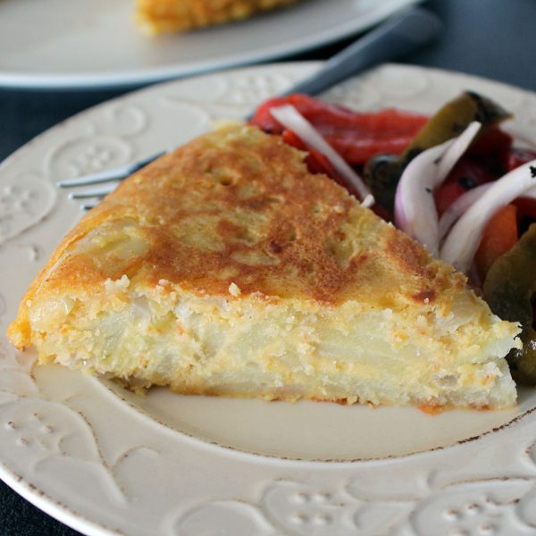 Spanish omelette, vegan
