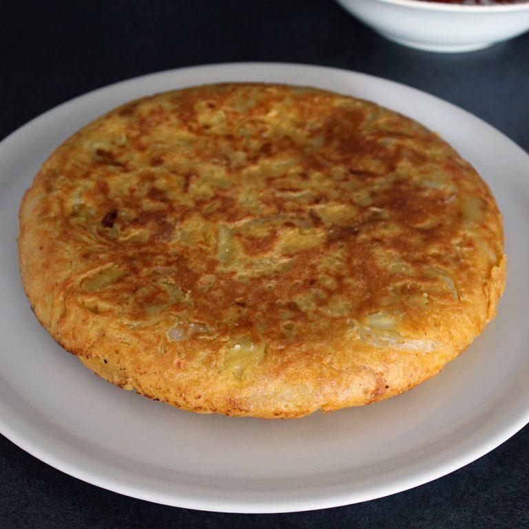 Spanish omlette, vegan
