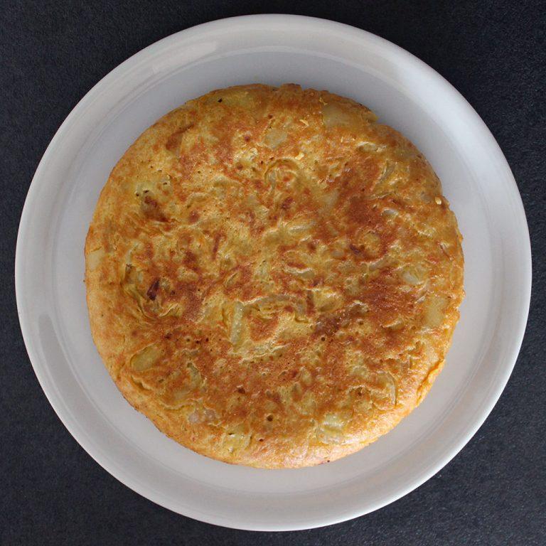 Spanish omelette, vegan