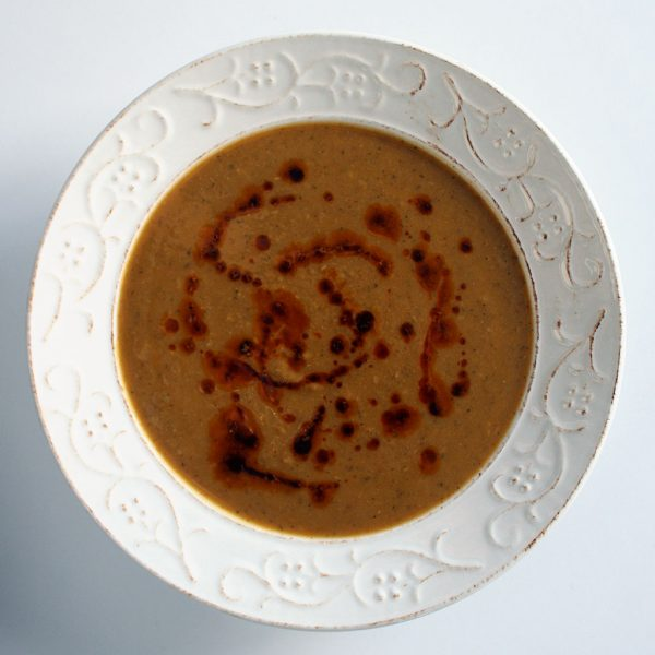 Turkish lentil soup with paprika oil