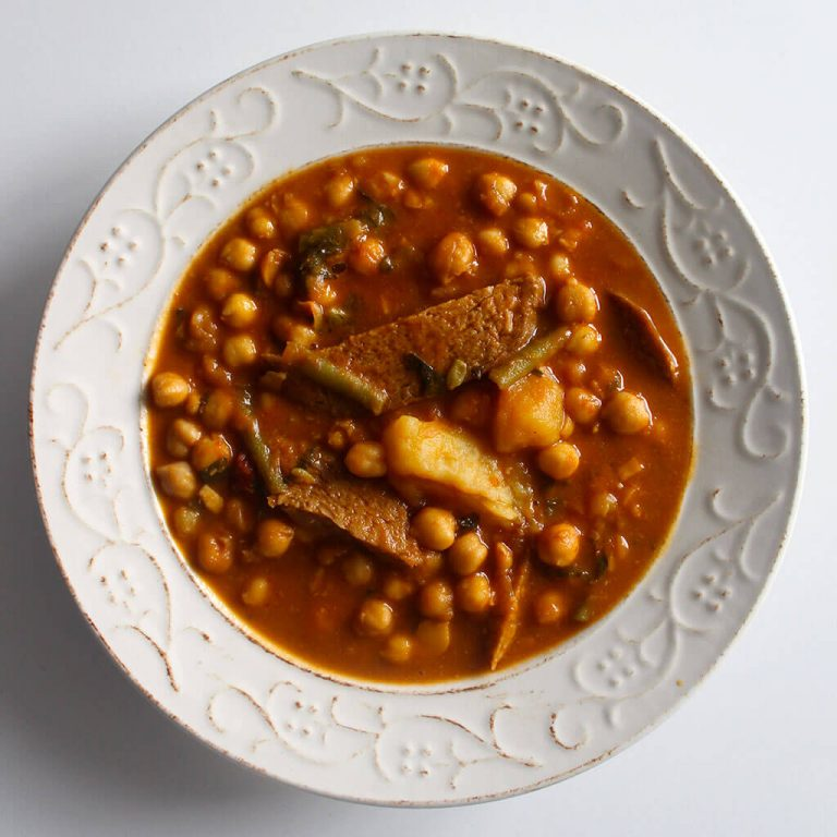 Berza chickpea stew
