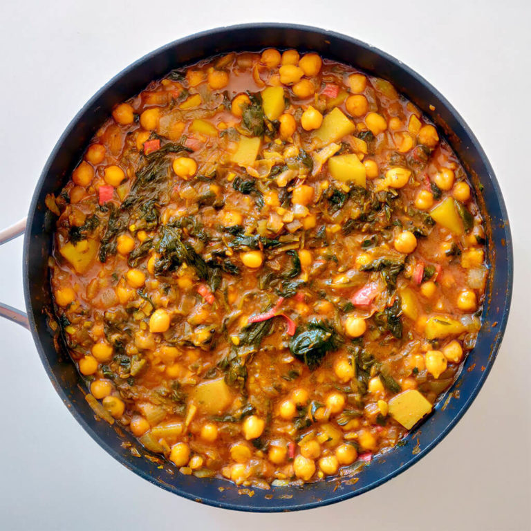 Chana saag - chickpea and spinach curry