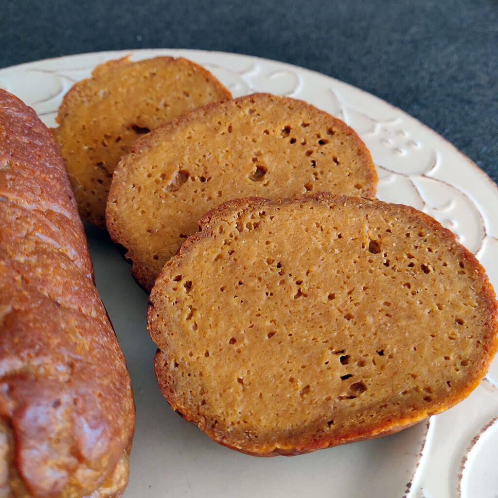 baked seitan in slices
